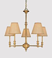 Modern hardware style 5 lights chandelier Dye Brass 8157BR lamp w shades