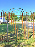 Standard Wrought Iron Gate Works W/ 5' Tall Fence - Installed 65 Tall