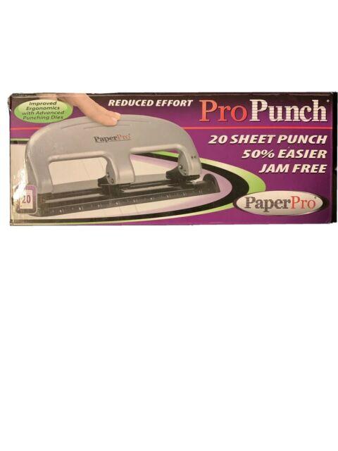 Black - New 2220 inPRESS 20 Reduced Effort Three-Hole Punch Silver