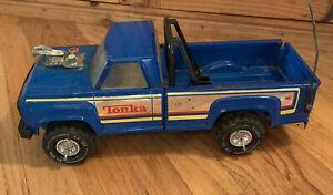 Vintage-Tonka-1970-039-s-Truck-XR-101-Pressed-Steel-Blue-Pick-Up-Truck-Roll-Bars