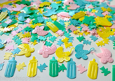 ❤BABY SHOWER UNISEX❤Table Confetti ❤Party Decorations❤Sprinkles Boys Christening