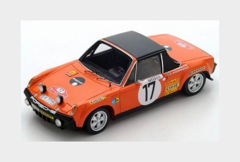 100% autentico Porsche 914 914 914 6  17 Rally MonteCochelo 1971 Andersson Thorszelius SPARK 1 43 S5584  Envío 100% gratuito