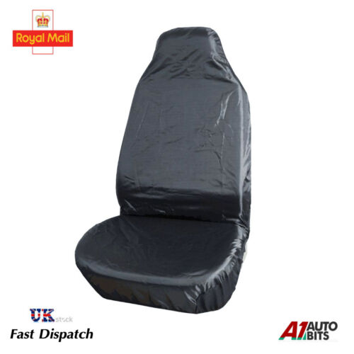 1 BLACK WATERPROOF UNIVERSAL HEAVY DUTY FRONT SEAT COVER CAR VAN PROTECTOR MUDDY