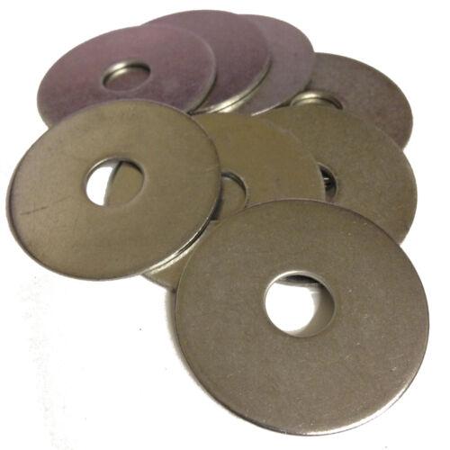 diamètre 40 mm * Pack de 10 M6 A2 en acier inoxydable PENNY RONDELLES M6 Trou