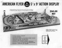 Gilbert American Flyer Train 5' X 9' Display Info D2011 Reprint