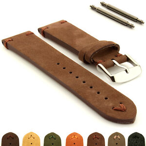 Suede-Genuine-Leather-Old-Style-Watch-Strap-Band-18-20-22-24-Blacksmith-Plus-MM