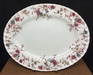 Minton-Ancestral-S-376-12-034-Oval-Serving-Platter-Wreath-BS