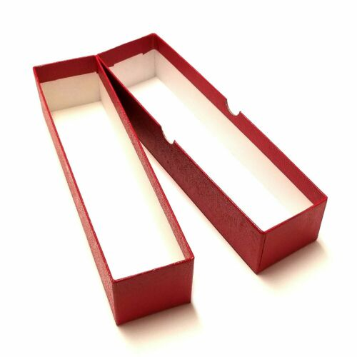2x2x9 Single Row 10 Red Storage Boxes for 2x2 Coin Holders and Flips