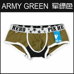 Pinkhero-Sexy-Men-039-s-Low-Waist-Comfy-Cotton-Boxer-Briefs-Trunk-Shorts-Underwear-M