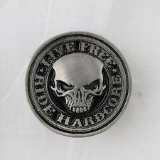 Ride Hardcore Biker Chopper Live Free Skull Totenkopf Pin Anstecker Anstecknadel