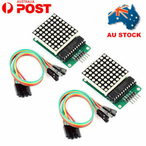 Details about 2X MAX7219 Dot Matrix LED Display Module MCU control  Microcontroller for Arduino