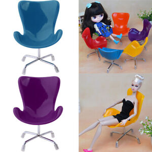 2pieces 1:6 Mini Doll Swan Chair Armchair Furniture for Action Figure Green