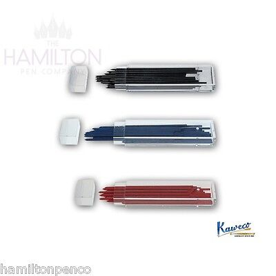 KAWECO 2mm LEAD REFILLS for clutch pencils - HB, blue or red