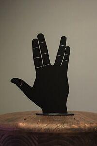Spock Hand Star Trek Sign Hand Sculpture 3D Statue Desktop Art Different Color Options
