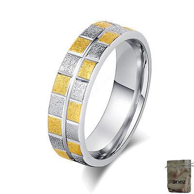 Ausdrucksvoll Original Enez Ring Trauring Ehering Edelstahlring Gr: 7 (17,2mm) B: 6mm R2656 +