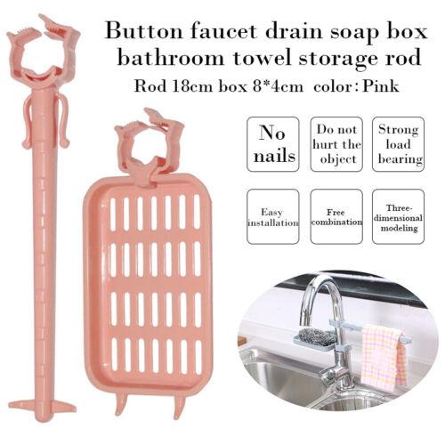 Sink Sponge Cloth Holder Kitchen Faucet  Organizer Towel Dry Drain Shelf Clip