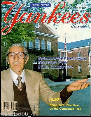 Yankees Magazine February 23, 1984 Phil Rizzuto Phil Niekro Steve Kemp  Exc