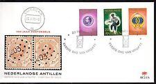 Dutch Antilles - 1973 Stamp centenary Mi. 266-68 clean unaddressed FDC