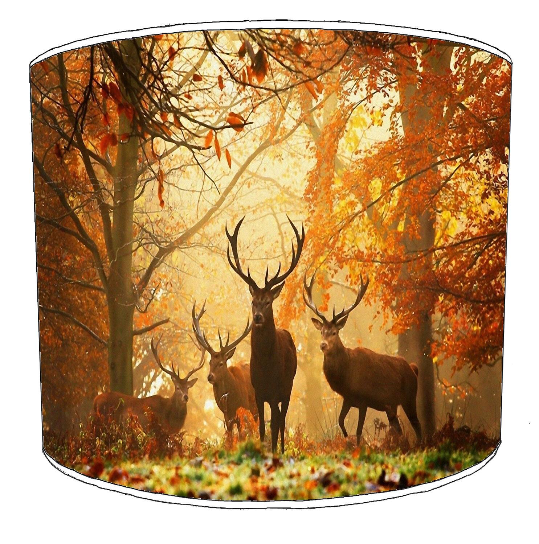 CACCIA SCENA Paralumi Ideale per abbinare Stag Home Home Home Decor, Cervi & Stag cuscini. 389446
