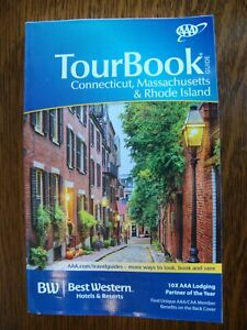 AAA CONNECTICUT MASSACHUSETTS RHODE ISLAND TourBook Travel Guide Book 2020