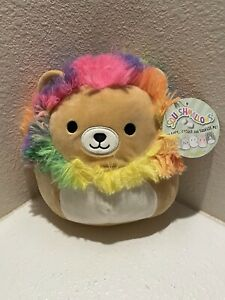 Squishmallow 8 Inch Richard the Lion with Rainbow Mane BRAND NEW