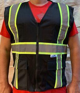 Black-Two-Tones-Safety-Vest-ANSI-ISEA-107-2015