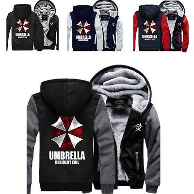 Resident Evil 3D Umbrella Print Men Women Hoodie Zipper Coat Jacket Sweatshirt