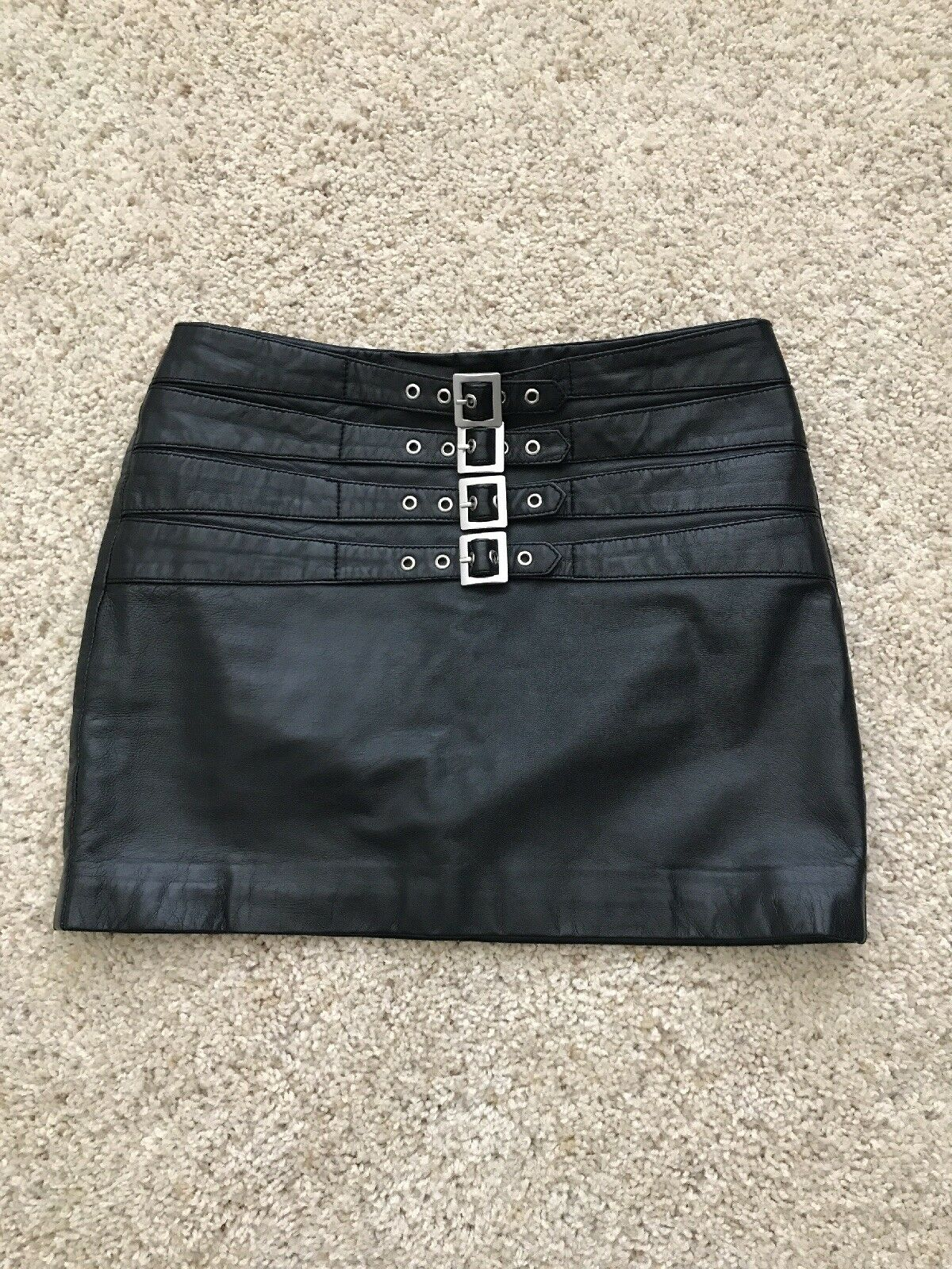 Mango Leather Mini Skirt XS-S