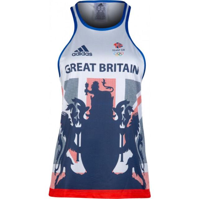 Womens Size 10 adidas Team GB Response Shimmel Running Top T Shirt Sleeveless