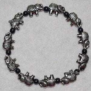 Magnetic Hematite Lucky Elephants Beaded Bracelet Present Jewellery Gift - Wiltshire, United Kingdom - Magnetic Hematite Lucky Elephants Beaded Bracelet Present Jewellery Gift - Wiltshire, United Kingdom