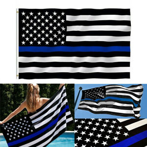 New 3x5/' USA Thin Blue Line Police Lives Matter Law Enforcement American US cons