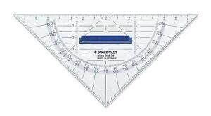 16cm Staedtler 568 36 Geodreieck Set Square Transparent With Removable Handle