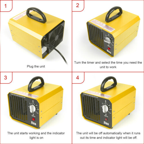 5000//7000//10000mg//h Ozone Generator Commercial Air Purifier Home Car Deodorizer