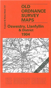 OLD ORDNANCE SURVEY MAP OSWESTRY LLANFYLLIN 1904 LLANYMYNECH LLANSILIN HORDLEY