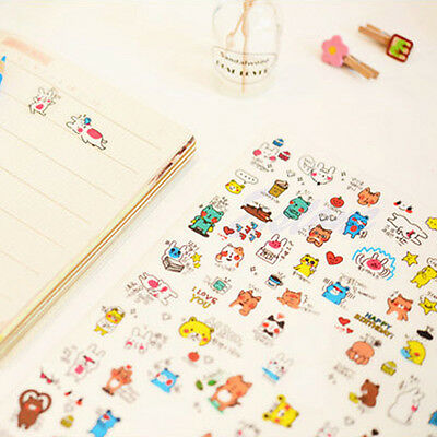 1Pc Cartoon Stickers Diary Scrapbook Calendar Label Decoration Korean Cute Funny