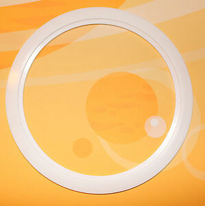 plastic white light trim ring recessed can 6 inch. Black Bedroom Furniture Sets. Home Design Ideas