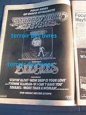 Melody Maker 02/1978 clipping BEE GEES SATURDAY NIGHT FEVER ad