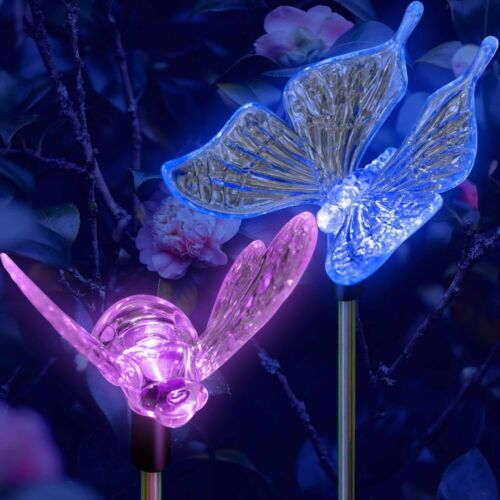 Solar Powered Bumble Bee Yard Garden Stake Color Changing LED Light
