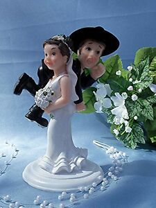 Image Is Loading Western Wedding Humorous Funny CAKE TOPPER Bride Carry