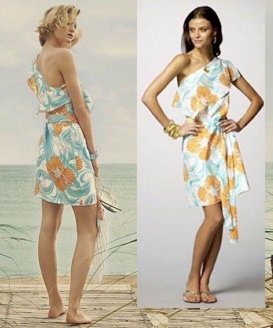 268 Lilly Pulitzer Kendall hacer la  onda de un hombro Vestido Ceñido De Seda 6  Ahorre 35% - 70% de descuento