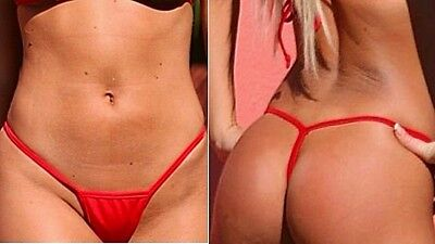 Sexy culotte string rouge femme taille S -Red sexy string panty size S