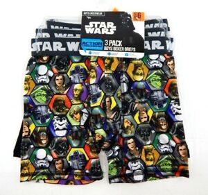 NEW Boys Disney Star Wars Pack of 5 Boxer Briefs Underwear Size 4