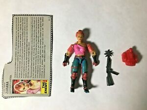 GI JOE ARAH Zarana 1986 V.1 Complete With Filecard, Broken Clavicle