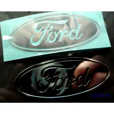 4 x Ford Metallic CAR Sticker Chrome 7 vinyl 30mm x 13mm 10 8 Windows Silver xp