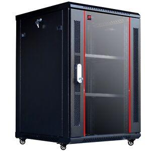 18U-24-034-depth-IT-Wall-Mount-Network-Server-Cabinet-Case-Box-PDU-Shelf-Feet-Fan