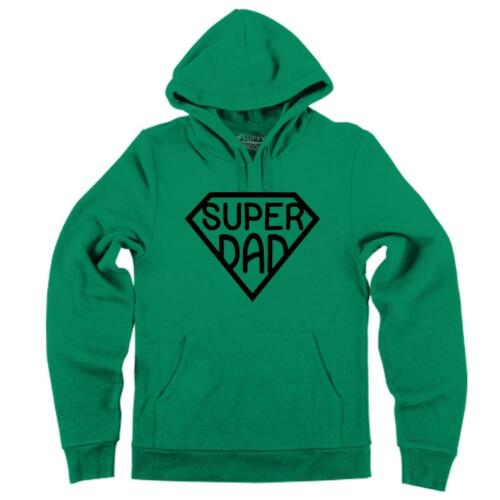 Mens Super Dad Hoodie Father Fathers Day Grandfather