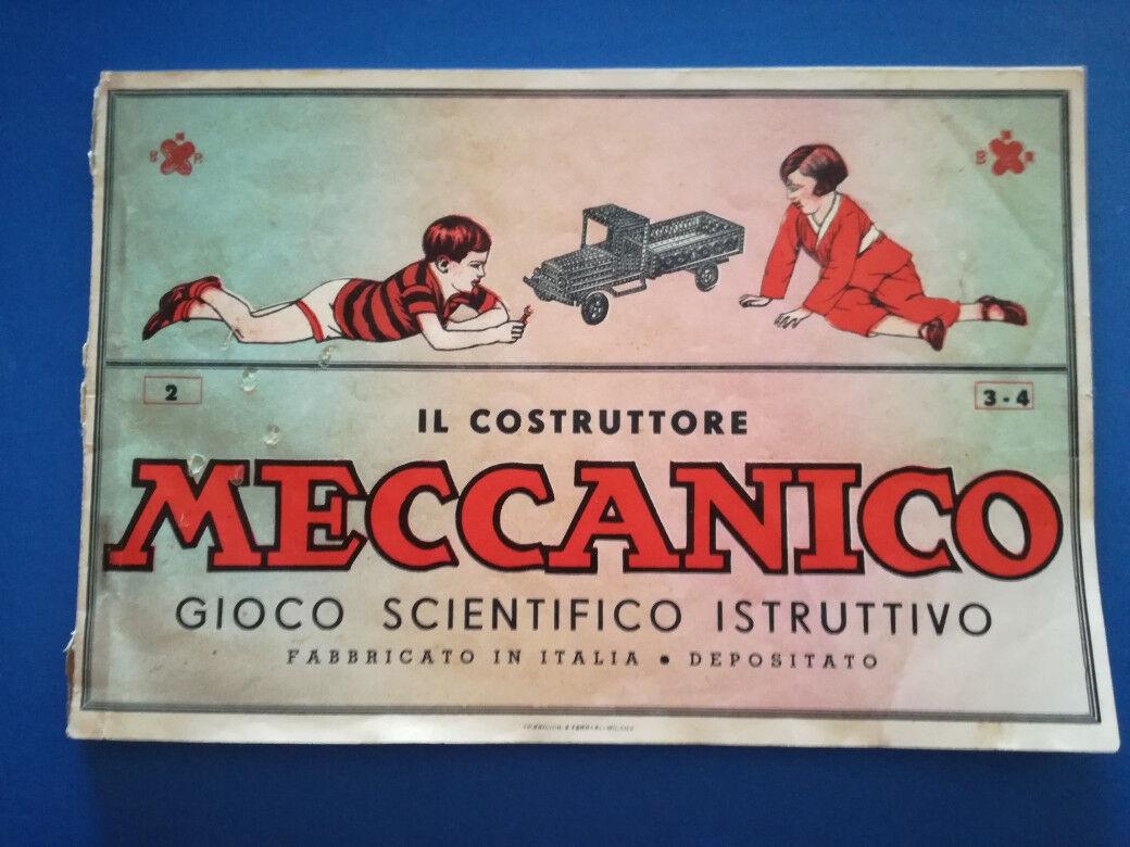 IL COSTRUTTORE MECCANICO - Catalogo  anni 1940 - 231 figure