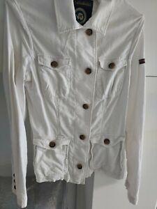 Veste blanche en 100% coton marque NAPAPIJRI très peu portée