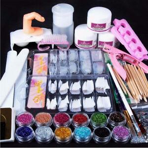 Kit-Ricostruzione-Unghie-Glitter-Polvere-Acrilica-Nail-Art-Design-Manicure-Set