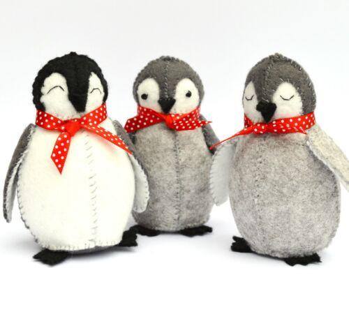 Kit de Artesanía Bebé Pingüinos de fieltro por Corinne Lapierre